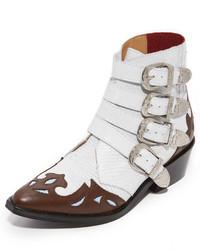 Женские белые кожаные ковбойские сапоги от Toga Pulla