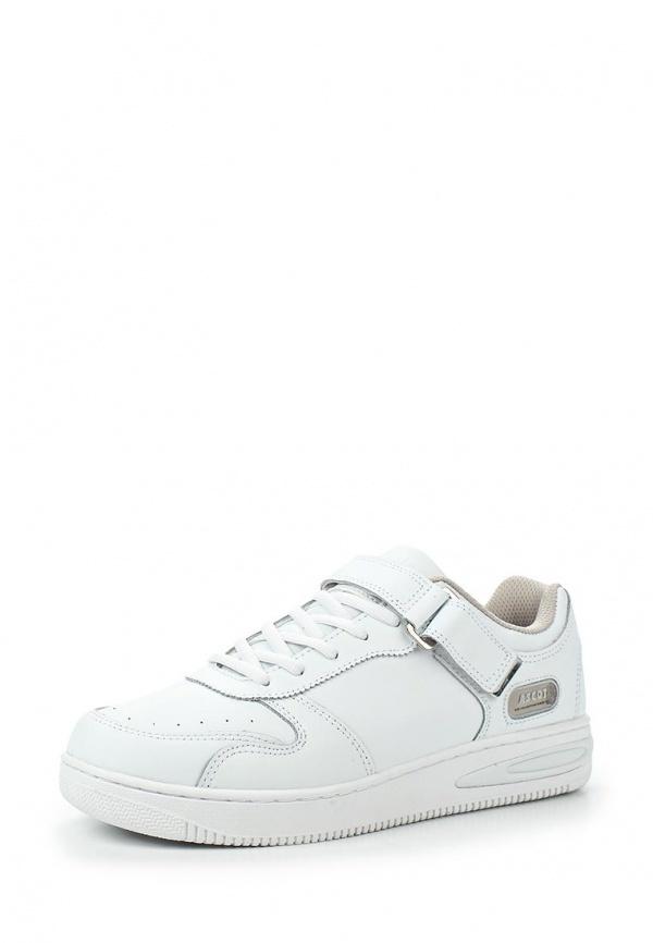 Мужские белые кожаные кроссовки от Ascot