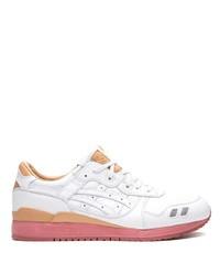 Мужские белые кожаные кроссовки от Asics