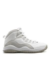 Мужские белые кожаные кроссовки от Jordan