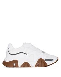 Мужские белые кожаные кроссовки от Versace