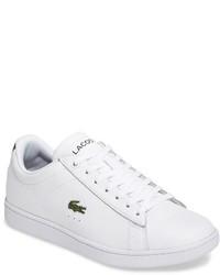 Белые кожаные низкие кеды