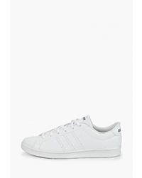 Женские белые кожаные низкие кеды от adidas