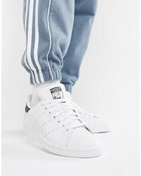 Мужские белые кожаные низкие кеды от adidas Originals