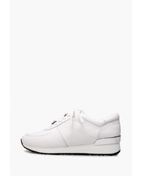 Женские белые кожаные низкие кеды от Alla Pugachova