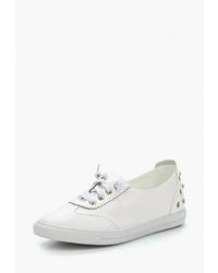 Женские белые кожаные низкие кеды от Chezoliny