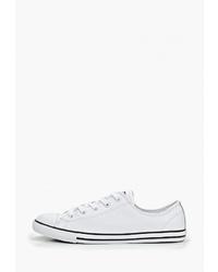 Женские белые кожаные низкие кеды от Converse