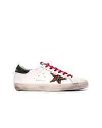 Мужские белые кожаные низкие кеды от Golden Goose Deluxe Brand