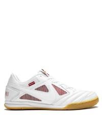 Мужские белые кожаные низкие кеды от Nike