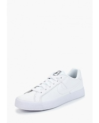 Женские белые кожаные низкие кеды от Nike