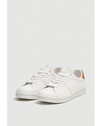 Женские белые кожаные низкие кеды от Pull&Bear