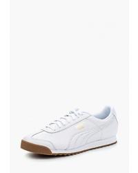 Мужские белые кожаные низкие кеды от Puma