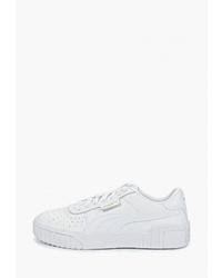 Женские белые кожаные низкие кеды от Puma