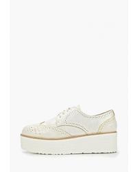 Женские белые кожаные оксфорды от Sweet Shoes