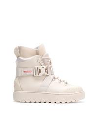Мужские белые кожаные рабочие ботинки от Puma