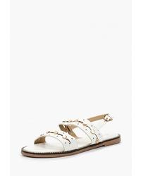 Белые кожаные сандалии на плоской подошве от Saivvila