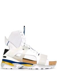 Мужские белые кожаные сандалии от Puma