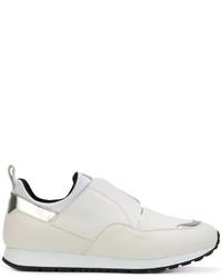 Женские белые кожаные слипоны от Tod's