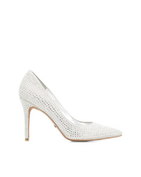 Белые кожаные туфли с украшением от Michael Kors