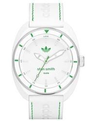 Белые кожаные часы