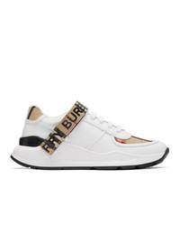 Женские белые кроссовки от Burberry