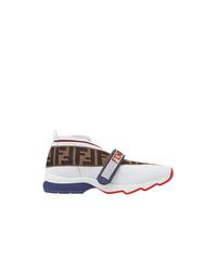 Женские белые кроссовки от Fendi