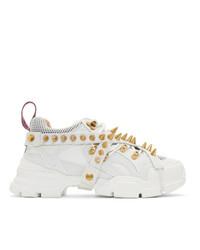 Мужские белые кроссовки от Gucci