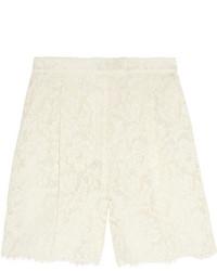 Белые кружевные шорты