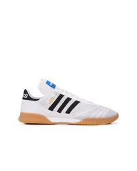 Мужские белые низкие кеды от adidas