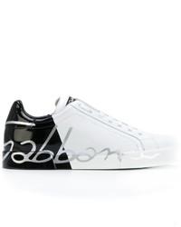 Мужские белые низкие кеды от Dolce & Gabbana