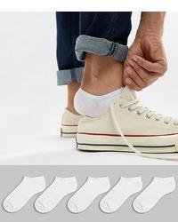 Мужские белые носки-невидимки от ASOS DESIGN