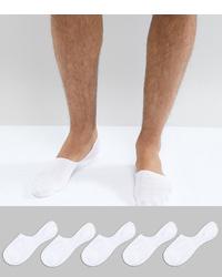 Мужские белые носки-невидимки от New Look