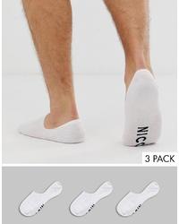 Мужские белые носки-невидимки от Nicce London
