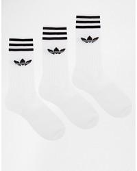 Мужские белые носки от adidas