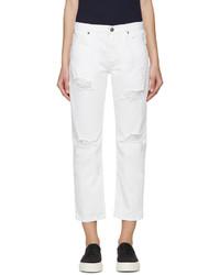 Белые рваные джинсы-бойфренды от Edit