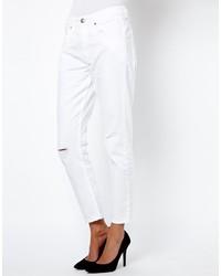 Белые рваные джинсы-бойфренды от French Connection