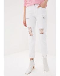 Белые рваные джинсы-бойфренды от Tom Farr
