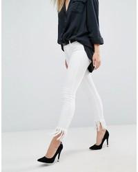 Белые рваные джинсы скинни от Blank NYC