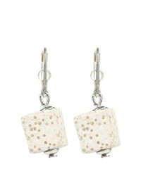 Женские белые серьги от Bottega Murano