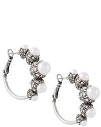 Женские белые серьги от Lanvin