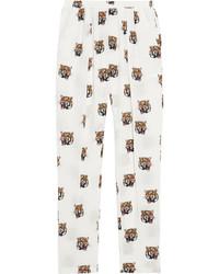 Белые шелковые брюки-галифе