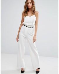Женские белые широкие брюки от Lipsy