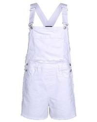 Белые шорты-комбинезон