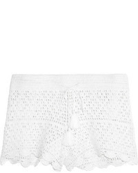 Белые шорты крючком