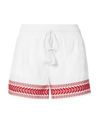 Женские белые шорты с вышивкой от J.Crew