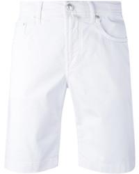 Мужские белые шорты от Jacob Cohen