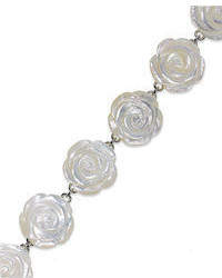 Белый браслет с цветочным принтом