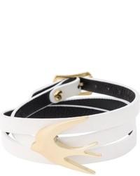 Белый браслет от McQ by Alexander McQueen
