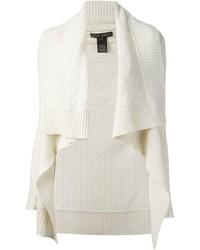 Женский белый вязаный открытый кардиган от Ralph Lauren