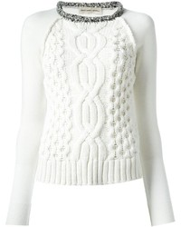 белый вязаный свитер original 1333581